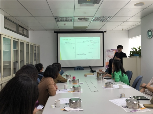 文藻外語大學董莊敬老師進行經驗分享