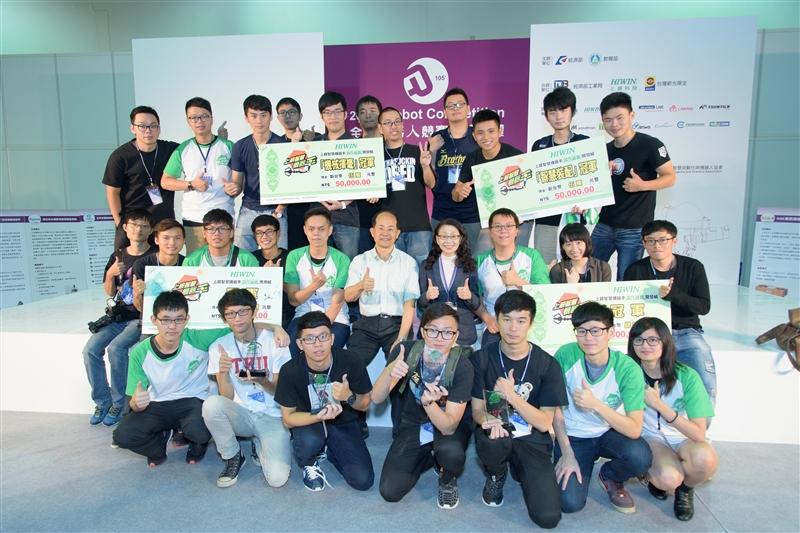 賀電機系參加『上銀智慧機器手』實作競賽雙項冠軍