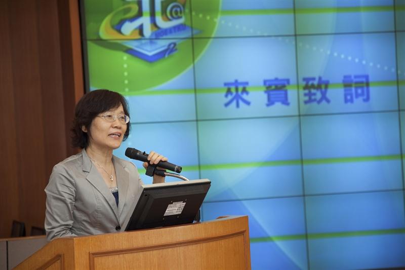 聖約翰科技大學陳金蓮校長致詞。