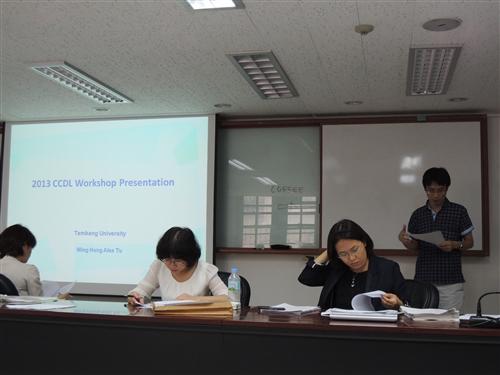 教師赴韓參加有關遠距教學的研討會5th CCDL Teachers Workshop,並與早稻田大學和執行課程的台日韓教授,共商遠距教學與課程設計的改善。