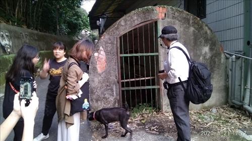 淡江大學克難坡中段的滬尾水道節流閥