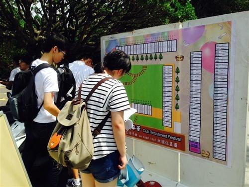「103學年度社團招生博覽會」在海報街熱鬧展開。