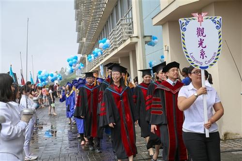 蘭陽校園舉行第6屆畢業典禮。