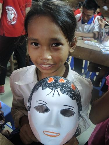 本校柬埔寨服務學習團第8次到柬埔寨哄吥省服務。