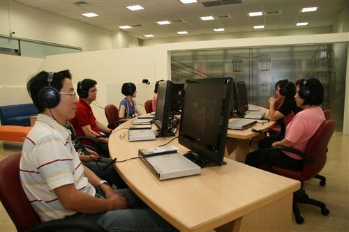 蘭陽校園圖書館視聽室