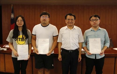 教務會議頒發榮譽學程碩士班獎學金