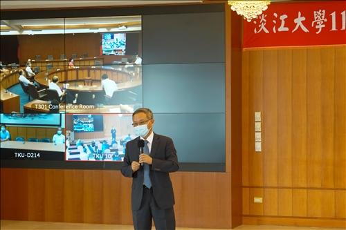 卸任一級主管致詞,邀請王高成院長發表感言。(秘書處馮文星拍攝)
