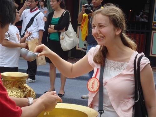 國際學生參加「2009年祭孔大典」