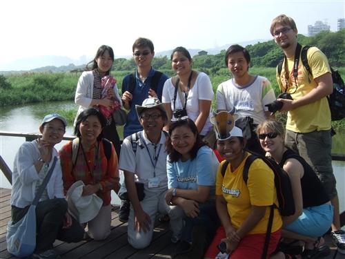 外國學生關渡賞鳥活動