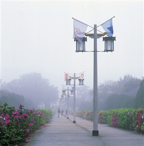 淡江大學宮燈霧景