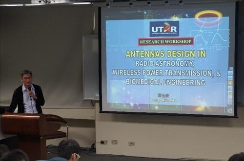 107年度 國外教授來訪學術演講「1. Antennas Design for Radio Telescopes, Wireless Power Transmission and Biomedical Telemetry 2. Application of Signal and Image Processing in Life Sciences」演講