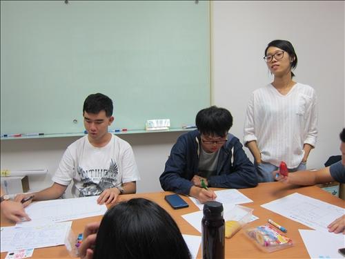 老師講解及帶領學員撰寫企畫