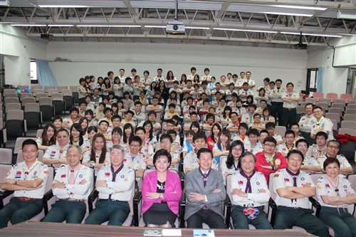 102年中華民國童軍羅浮群長年會在本校舉行。