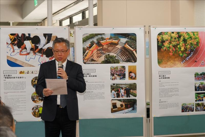 羅孝賢總務長宣讀合作意向書內容