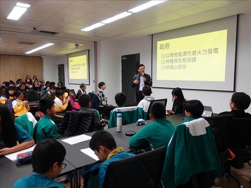 水利局副局長諶錫輝在閉幕致詞肯定淡江大學與七校小學的成果