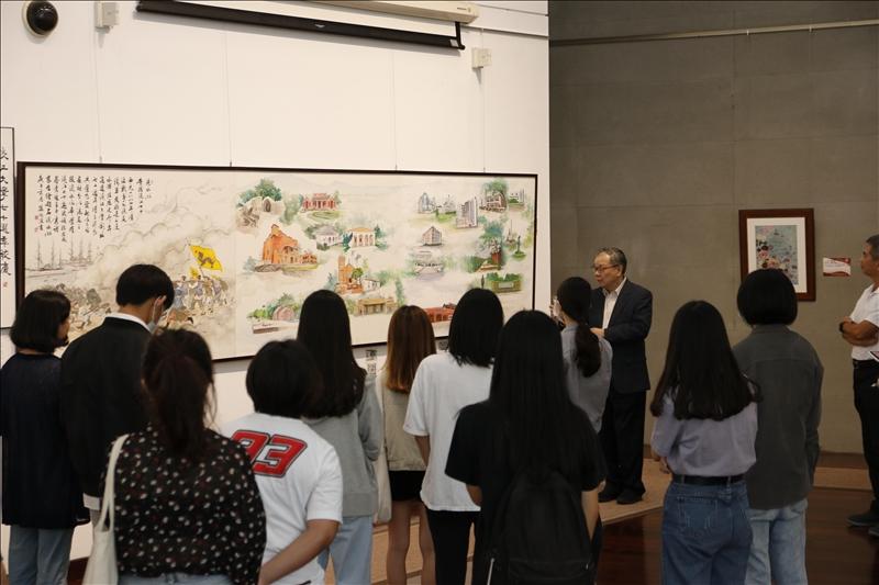 淡江大畫結合傳統與科技 超越呈現
